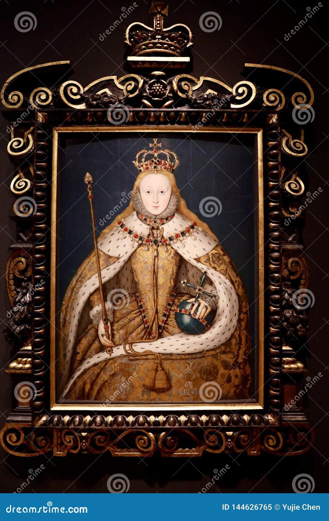 Portrait de la Reine Elizabeth I, par un artiste anglais d unkown