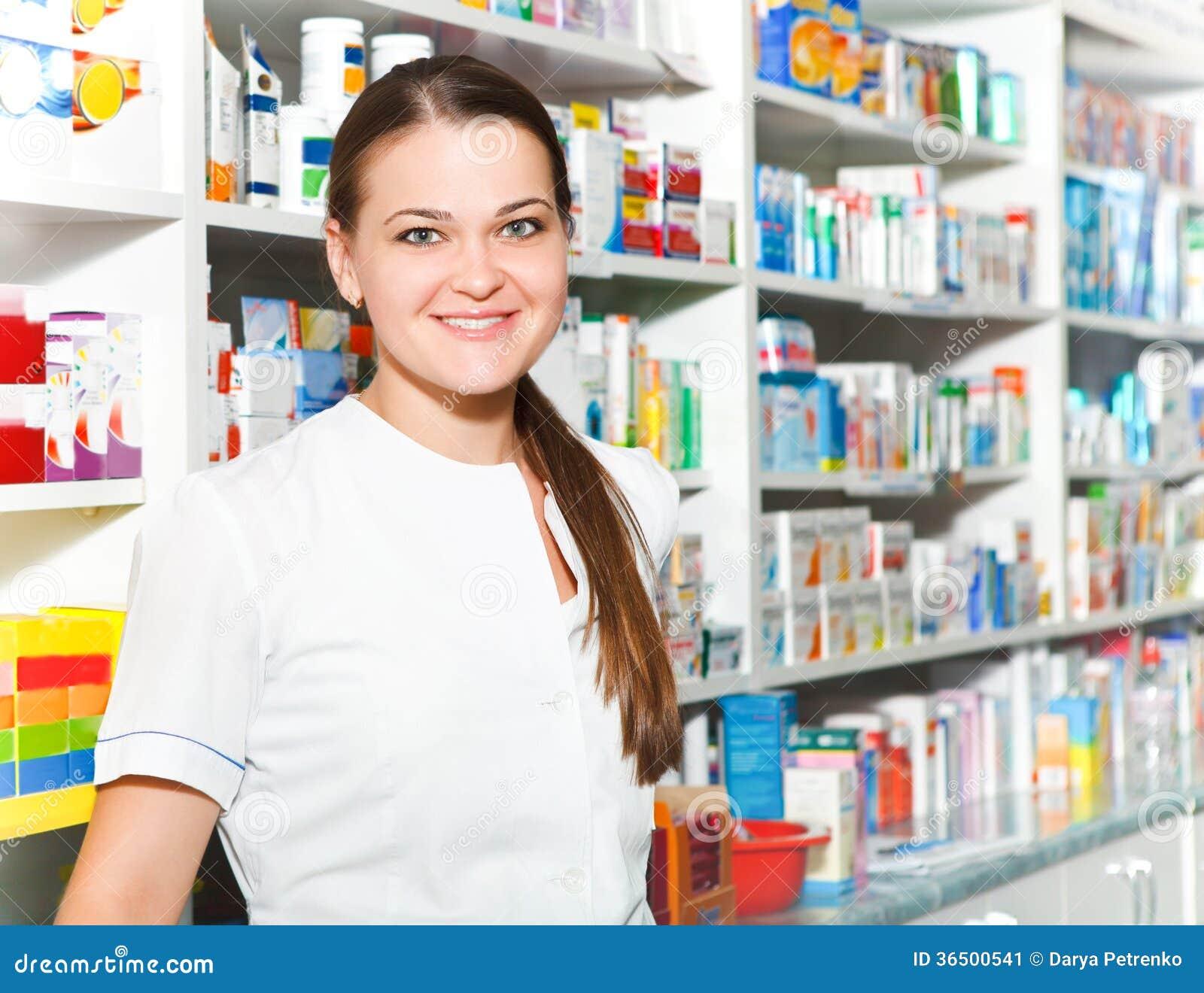 Portrait de pharmacien féminin