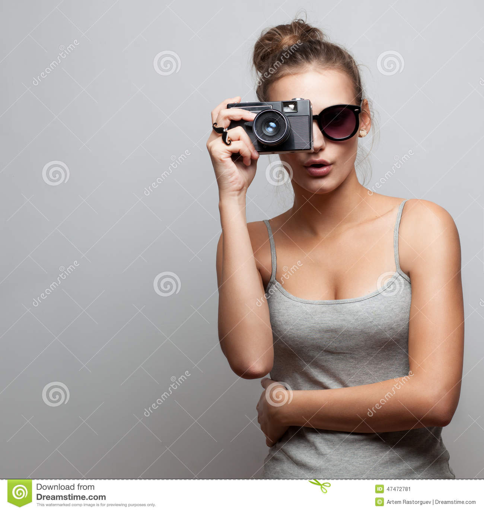 Portrait de photographe féminin