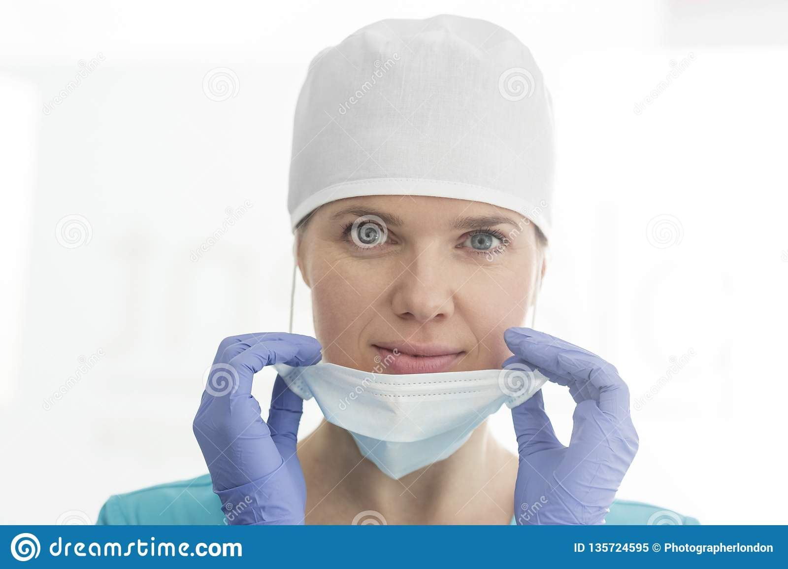 masque chirurgical sourire