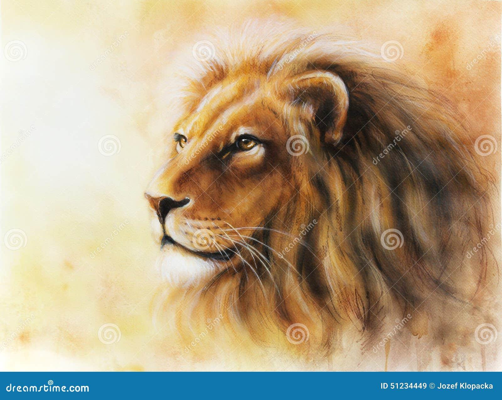 portrait de profil de peinture de couleur de profil de lion d 39 illustration illustration stock. Black Bedroom Furniture Sets. Home Design Ideas