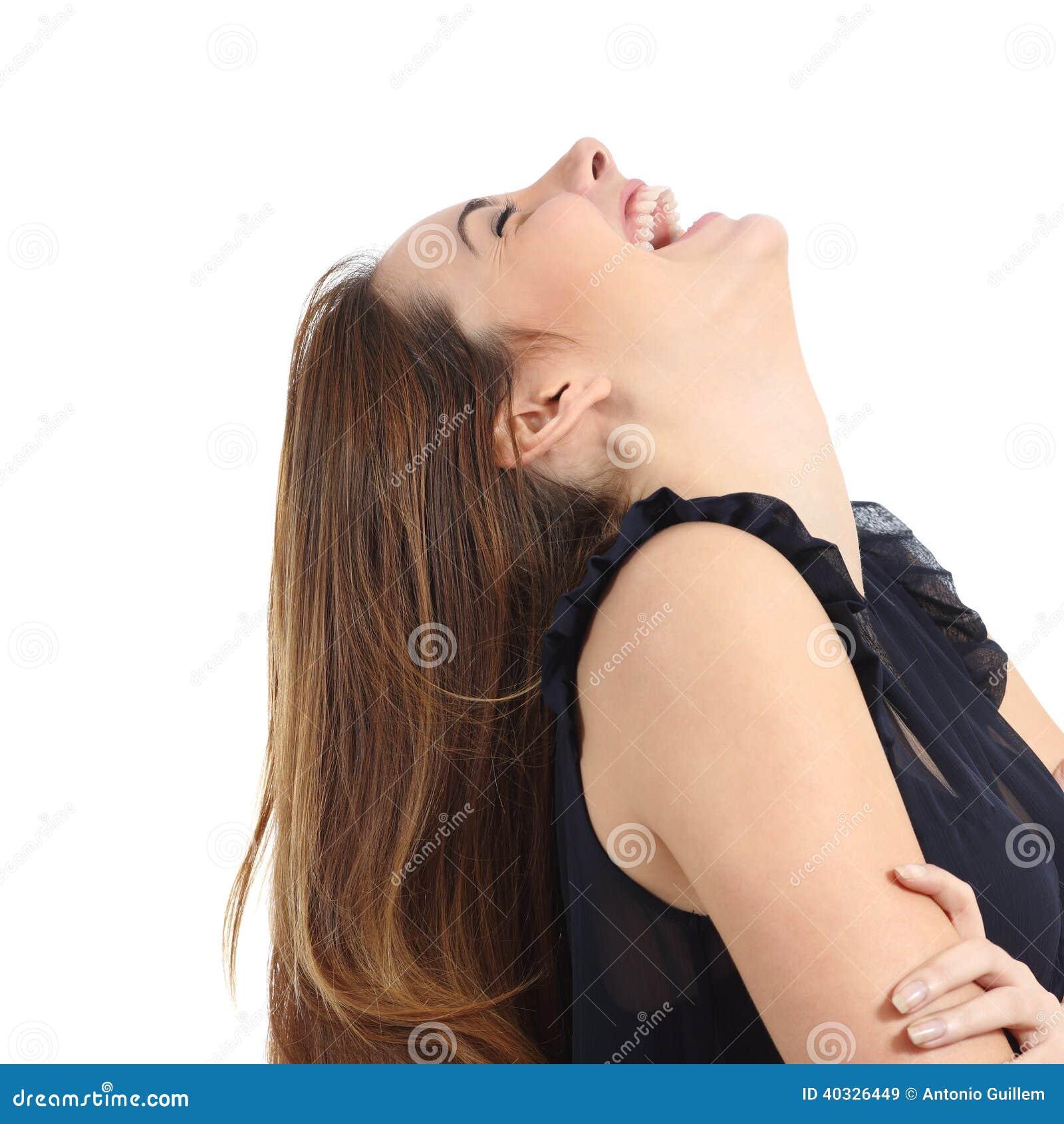 Portrait de rire drôle de femme