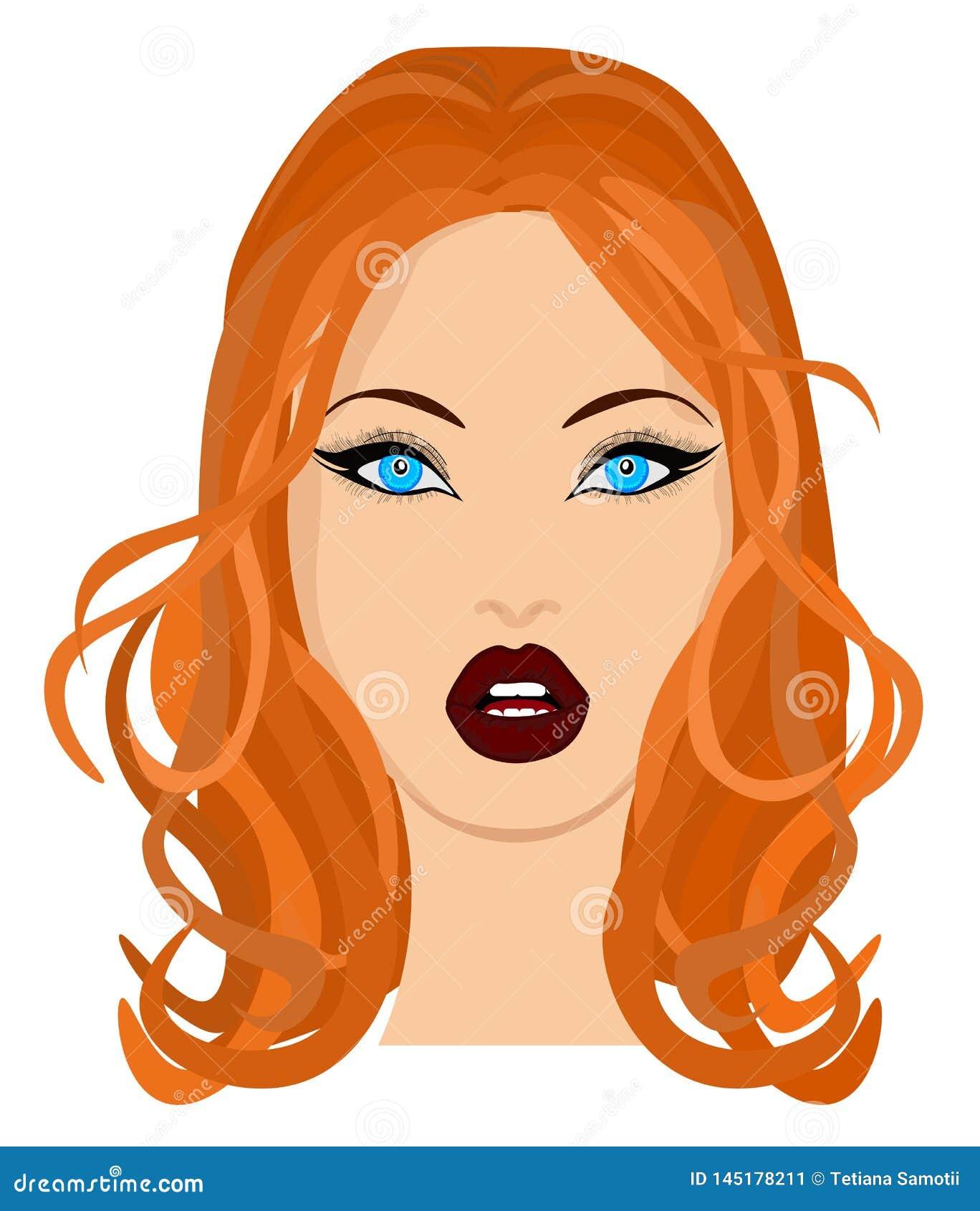 Portrait de Web d une belle brune en plan rapproché en verre Illustration de vecteur
