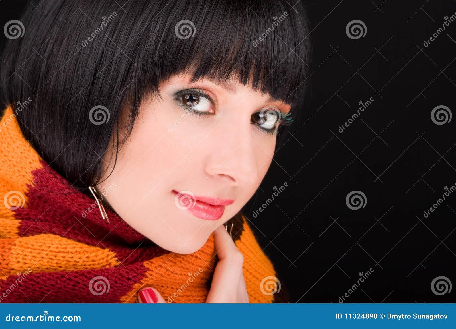 Portrait der Frau mit Schal