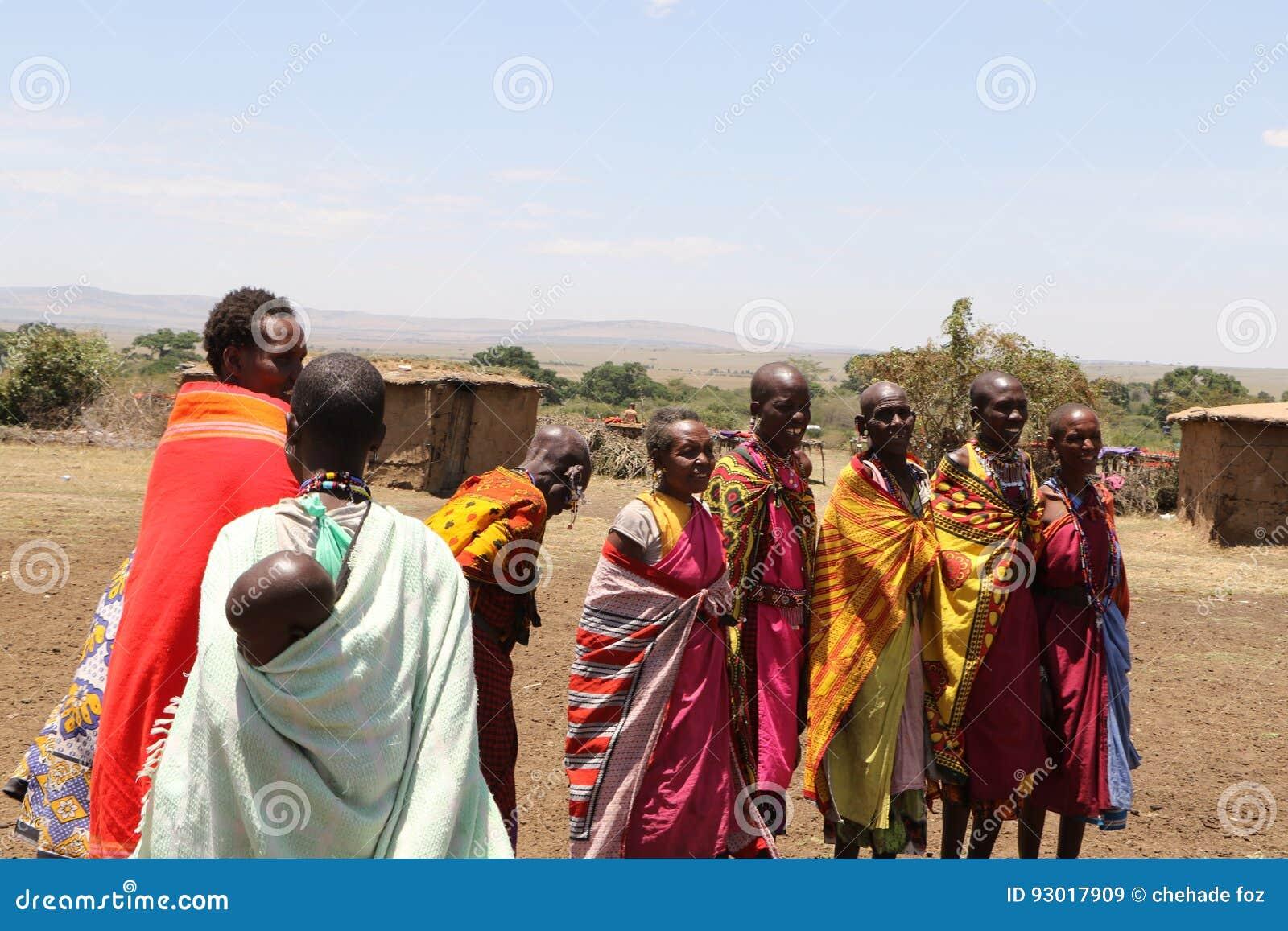 Portrait des femmes de massai