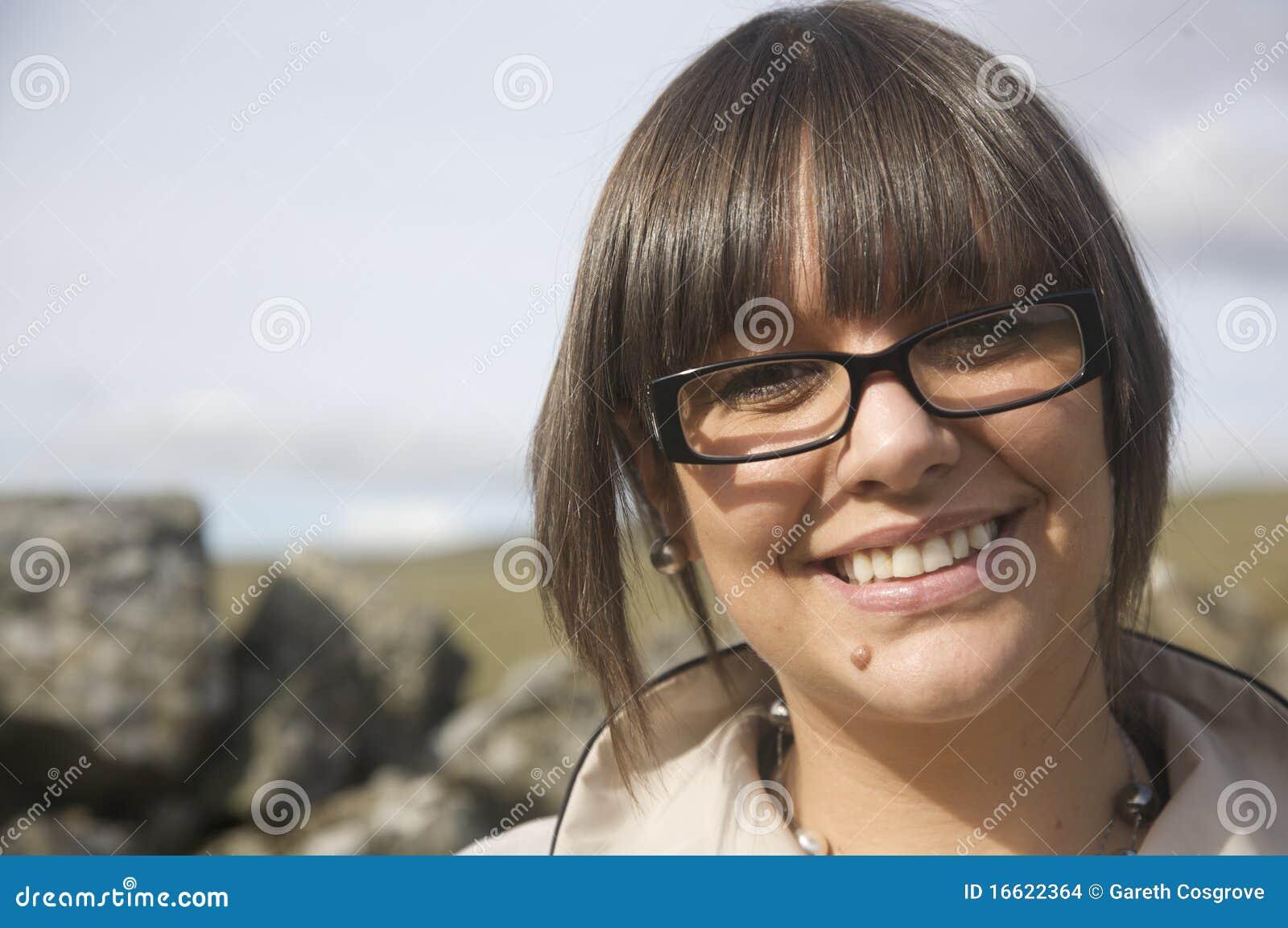 Portrait des Frauenlächelns