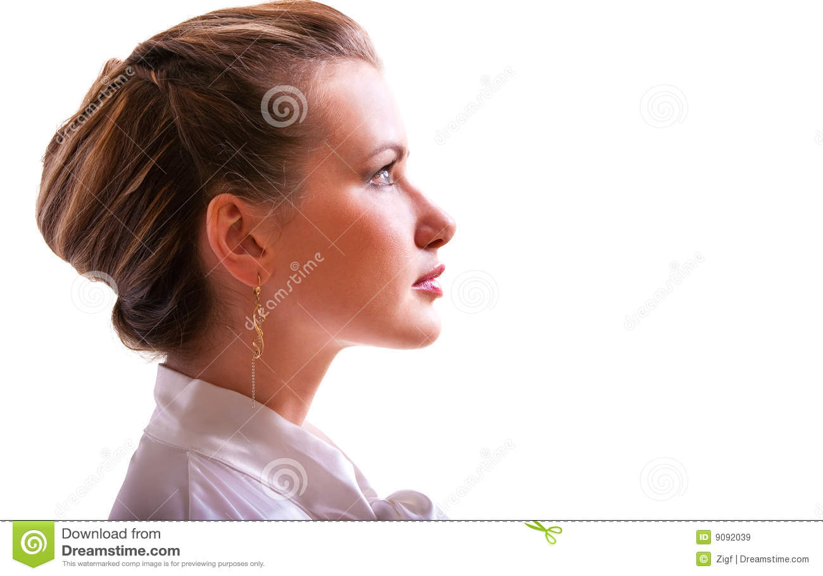 Portrait des Mädchens im Profil
