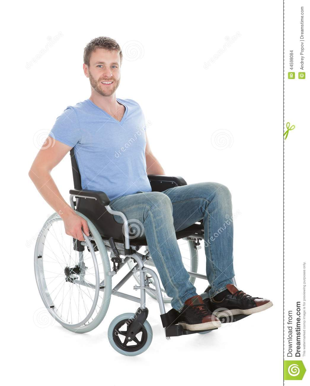 Disabled man in a wheelchair stock image cartoondealer for Sedia a rotelle cartoon