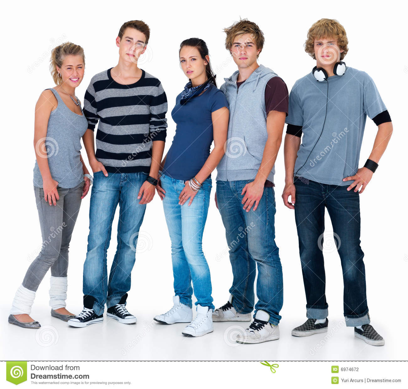 Portrait Of Diverse Young People Standing Stock Photo