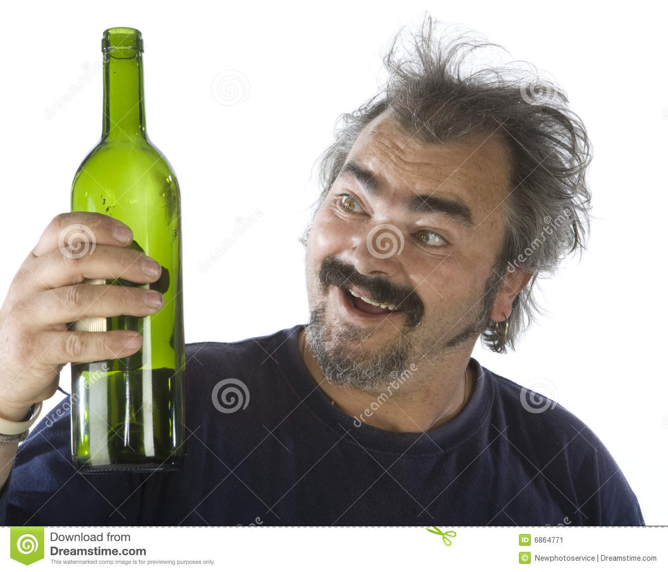 Portrait Of A Drunk Man Stock Image Image Of Hold Jeans 6864771