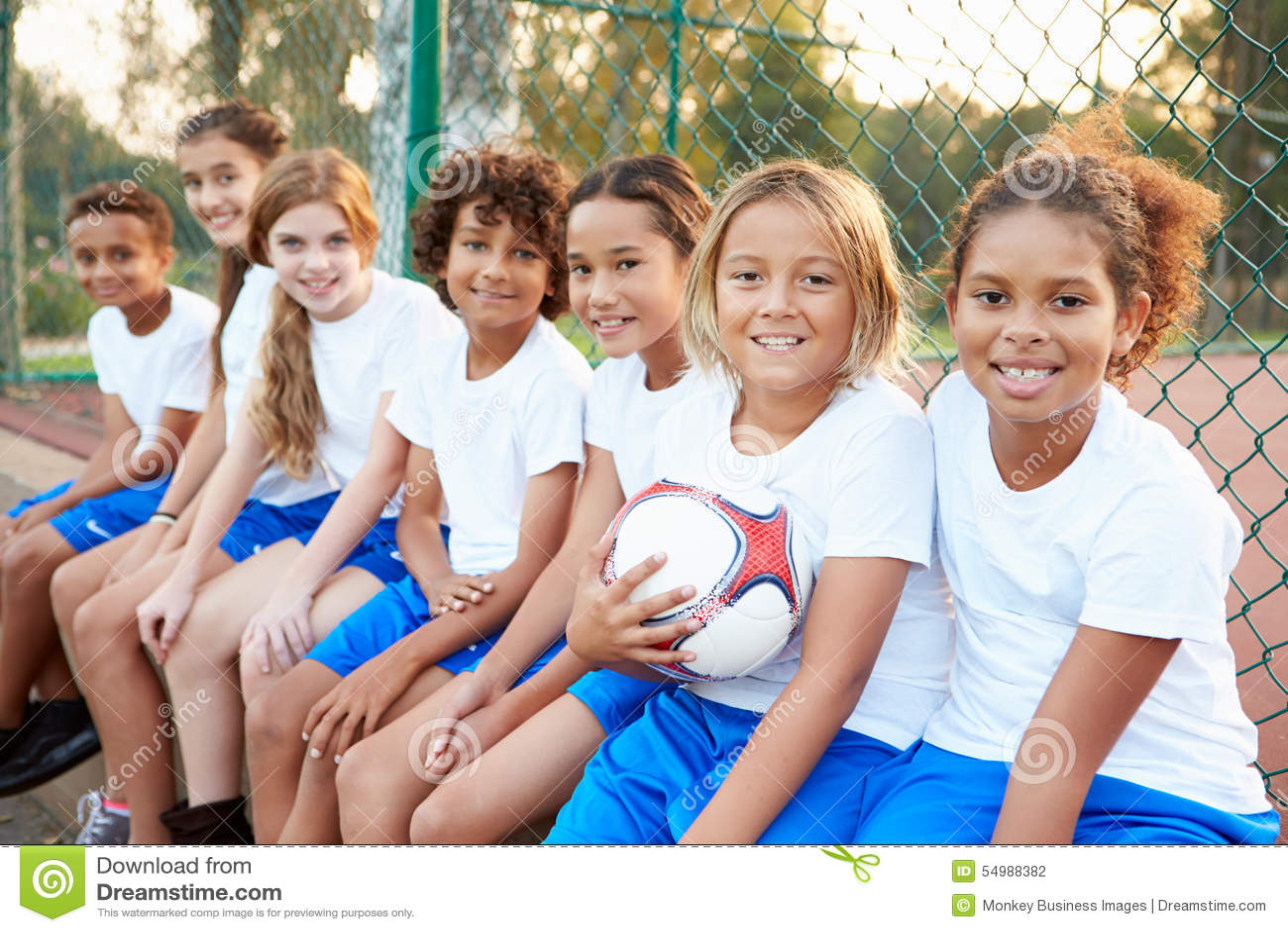 Portrait du football Team Training Together de la jeunesse