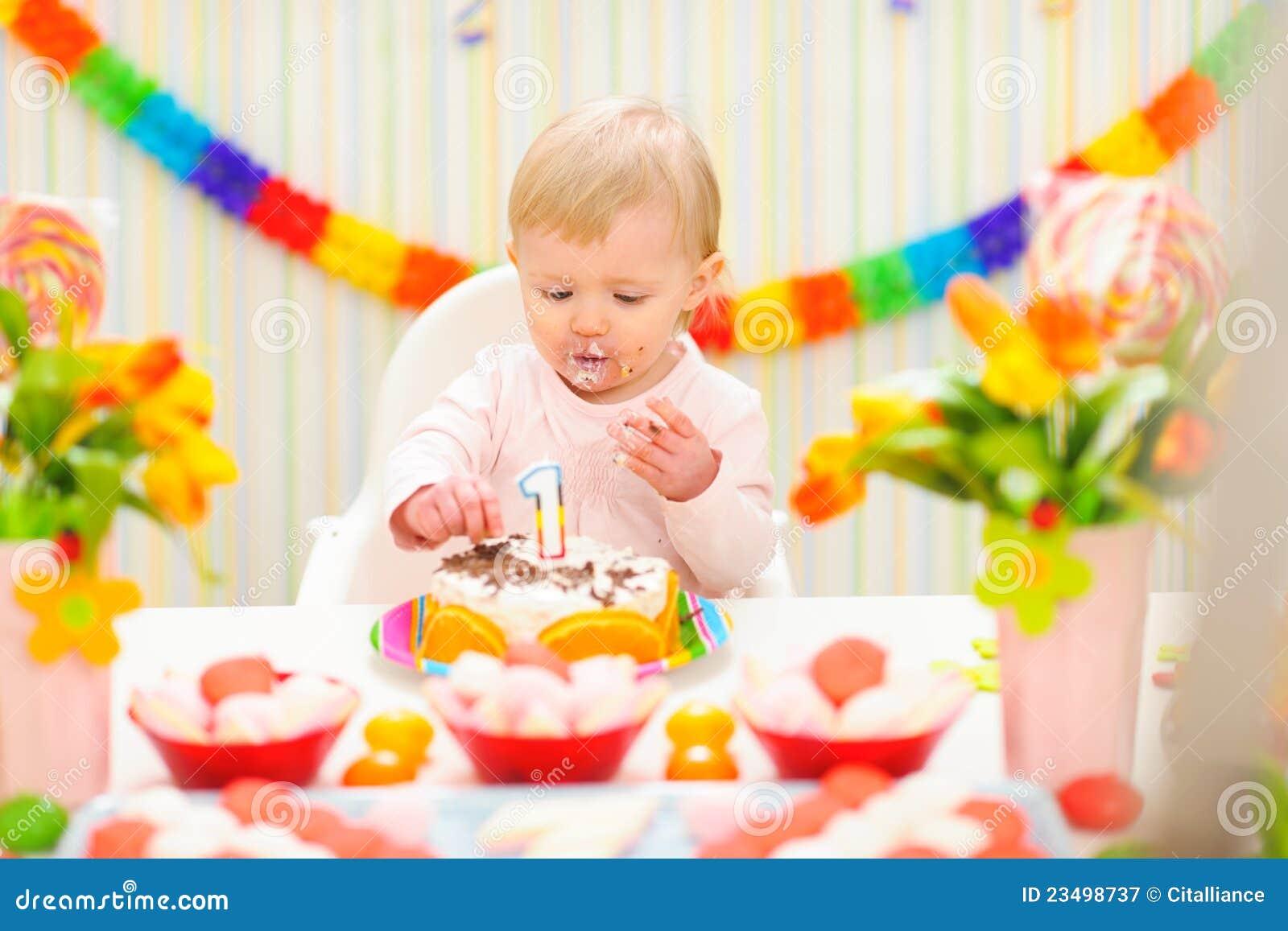 baby eating the birthday cake stock photo image 50926338 on images baby eating birthday cake
