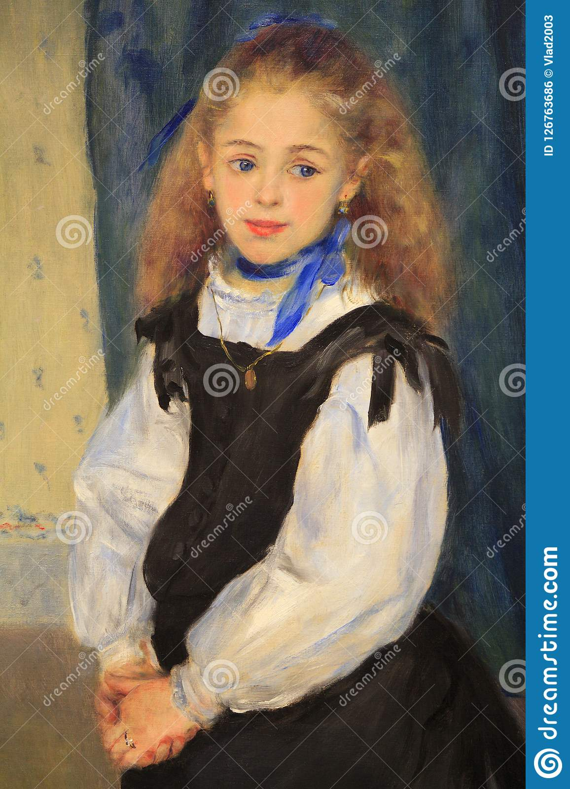 Portrait Of Of Eight Year Old Mademoiselle Adelphine