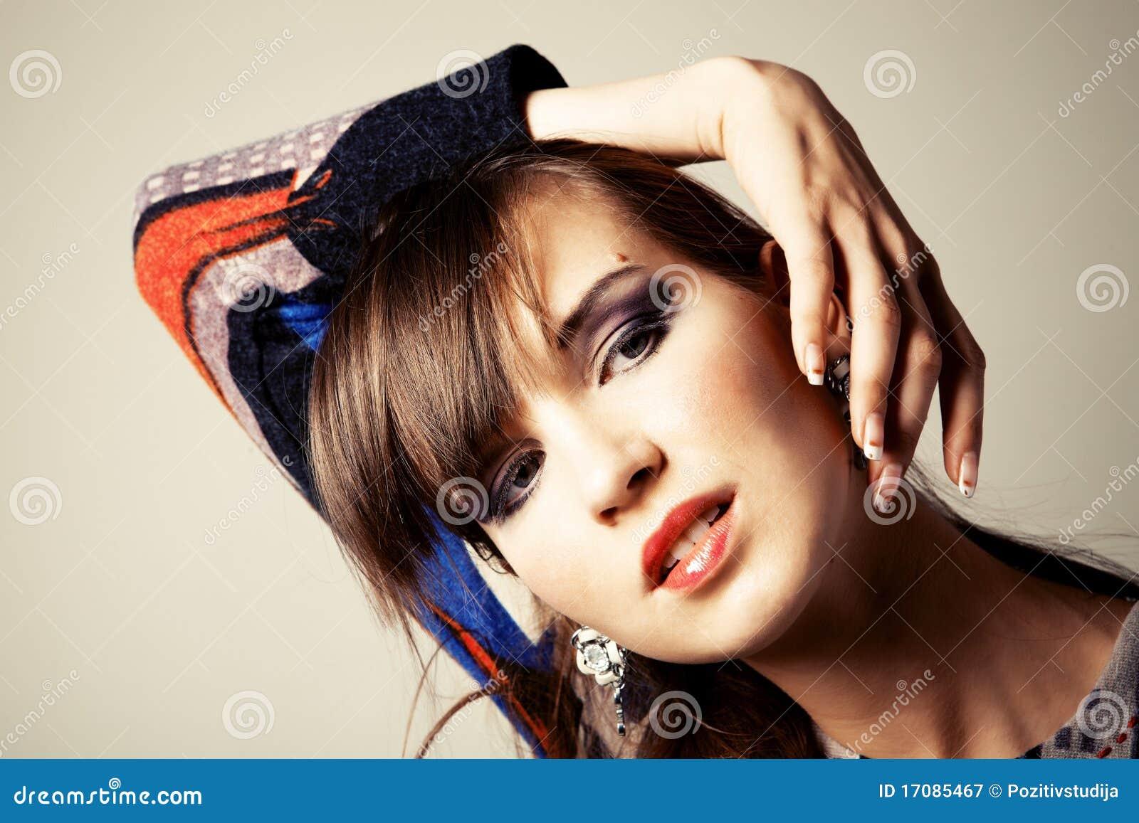 Portrait eine schöne junge Frau