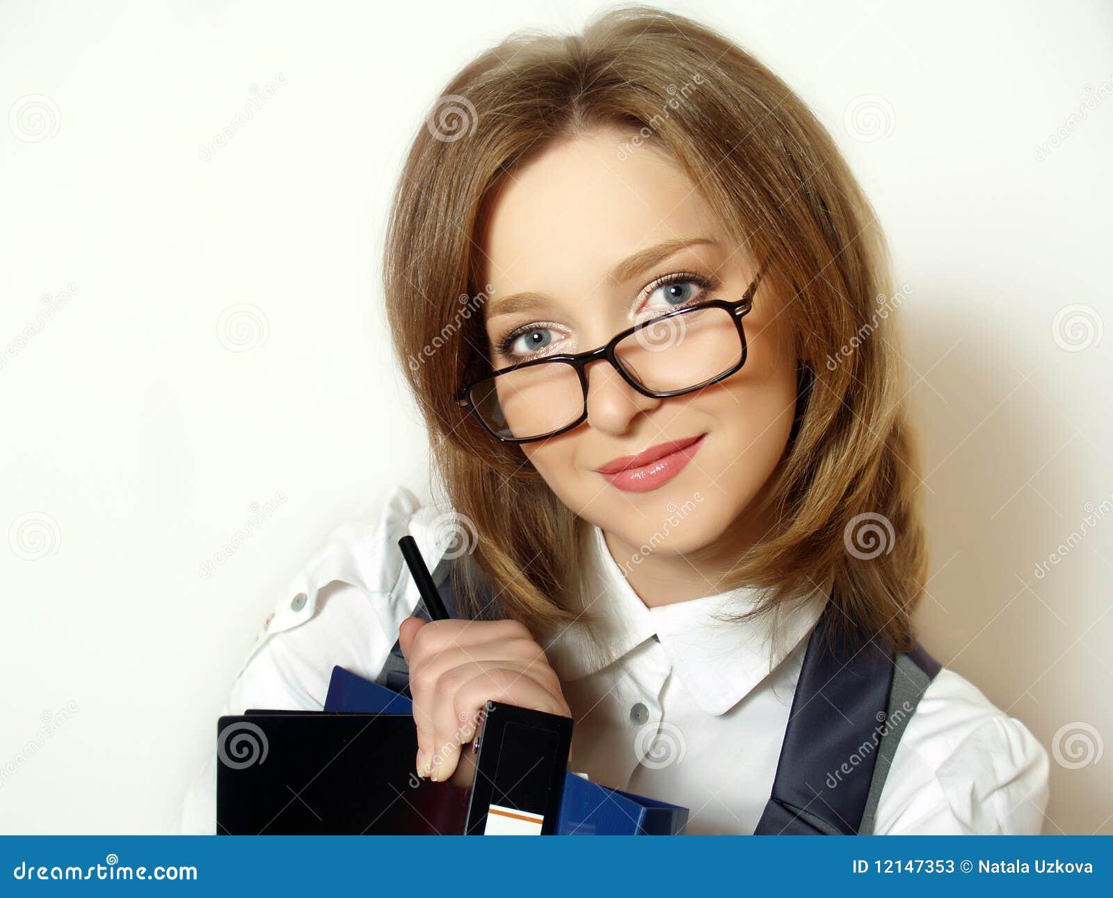 Portrait einer jungen attraktiven Geschäftsfrau