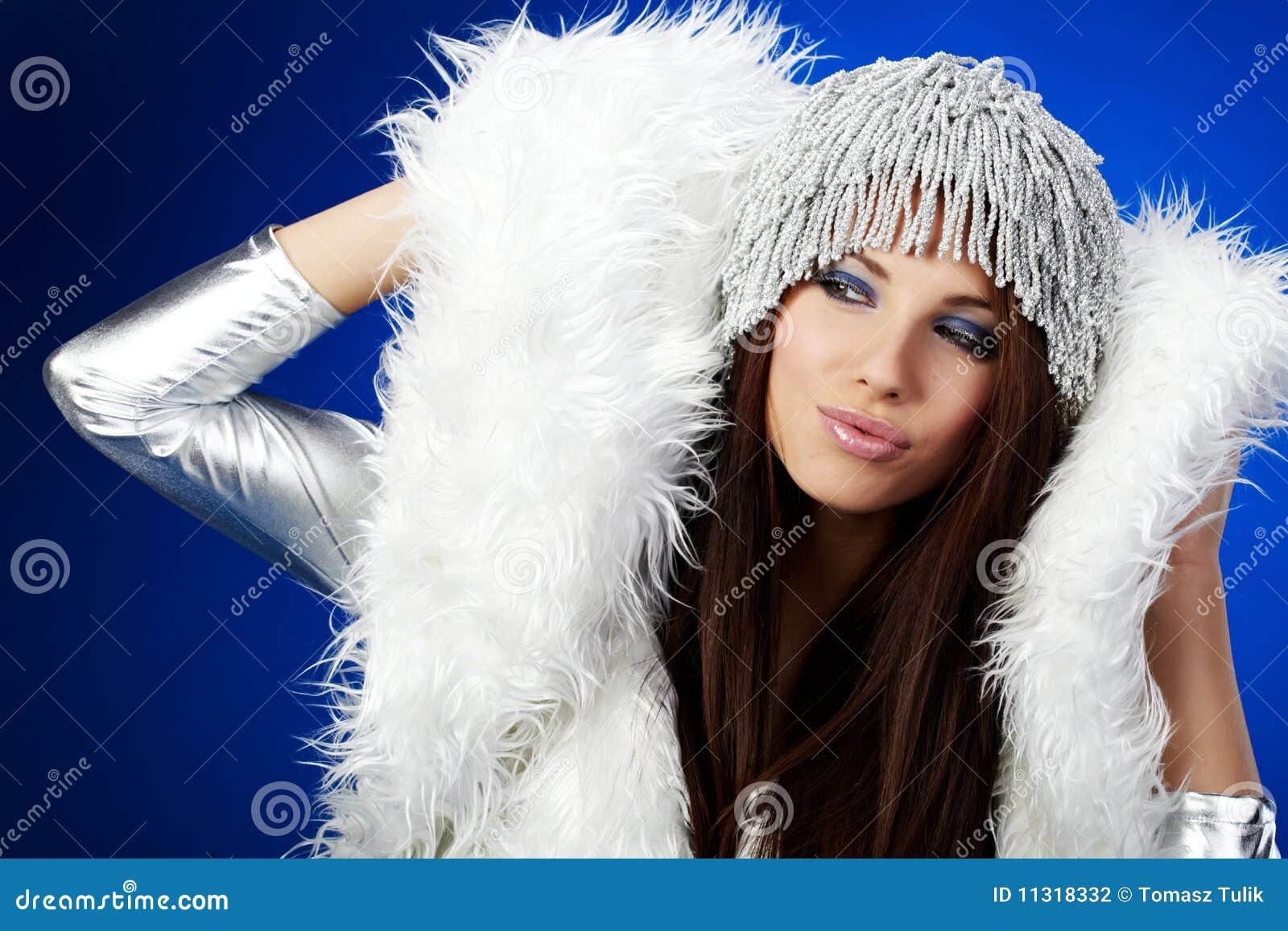 Portrait einer Winterfrau,