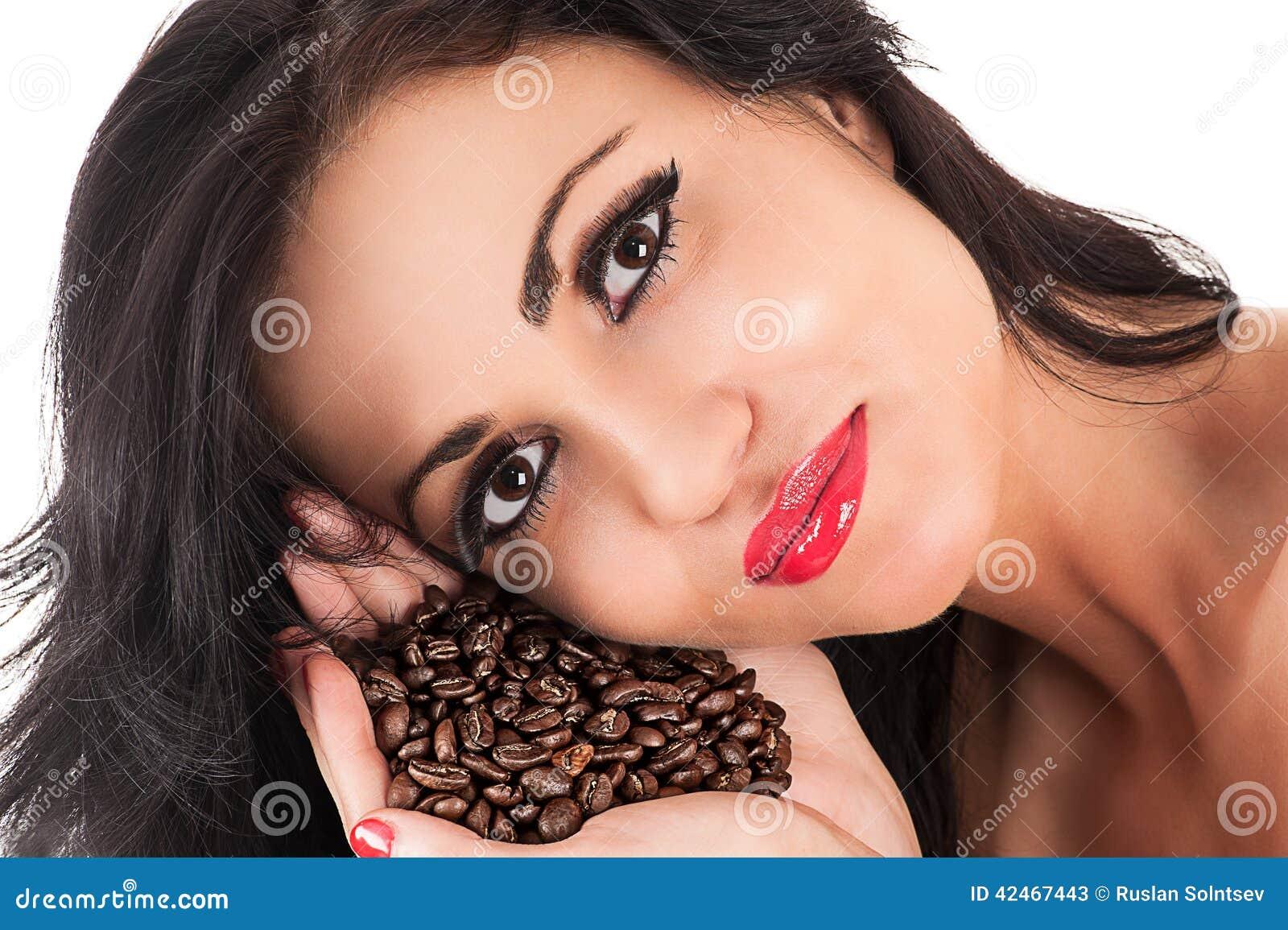Portrait eines schönen Brunette