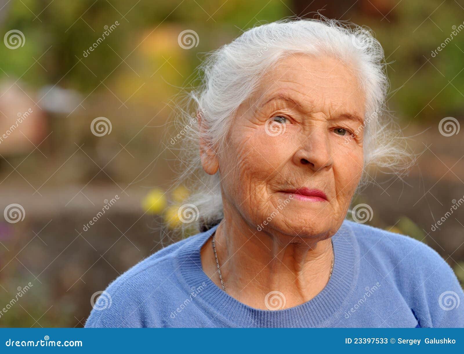 Portrait Of The Elderly Woman Stock Photos - Image: 23397533