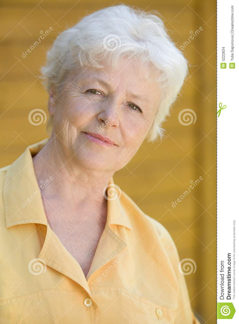 Portrait Of The Elderly Woman Stock Images - Image: 5222834