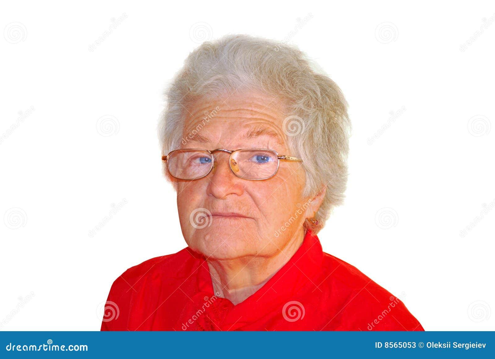 Stock Photos: A portrait of elderly woman