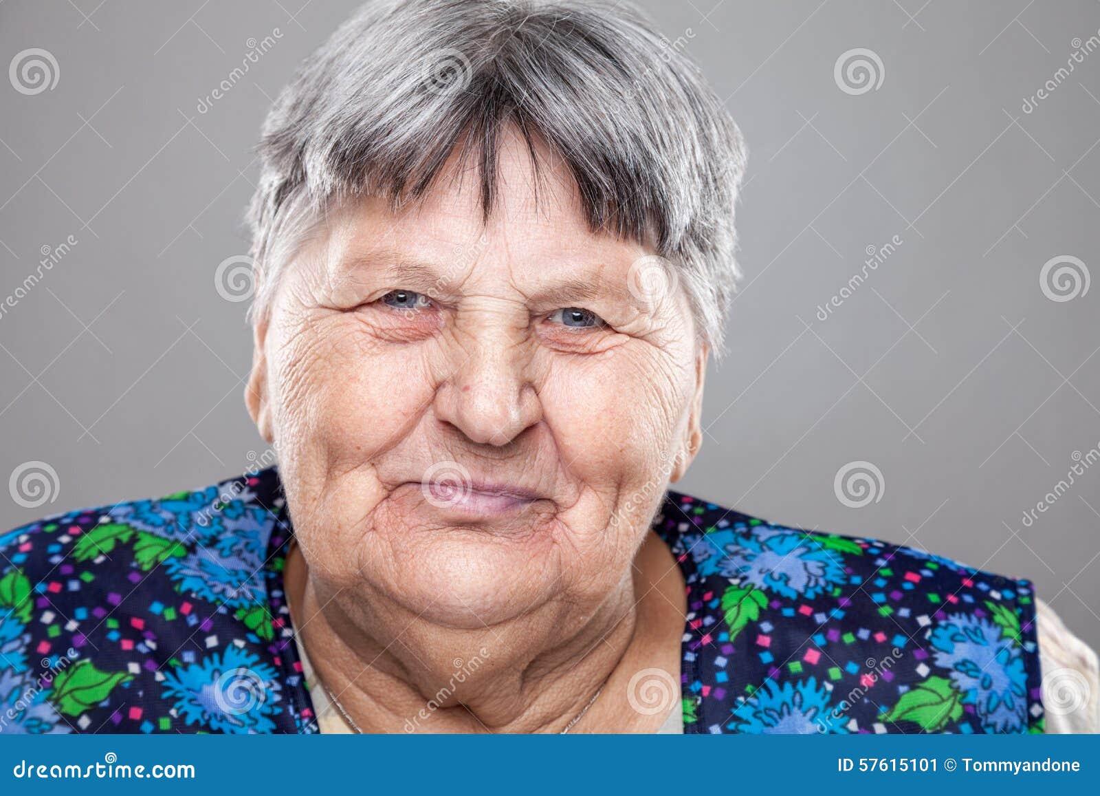Portrait Of An Elderly Woman Stock Photo - Image: 57615101