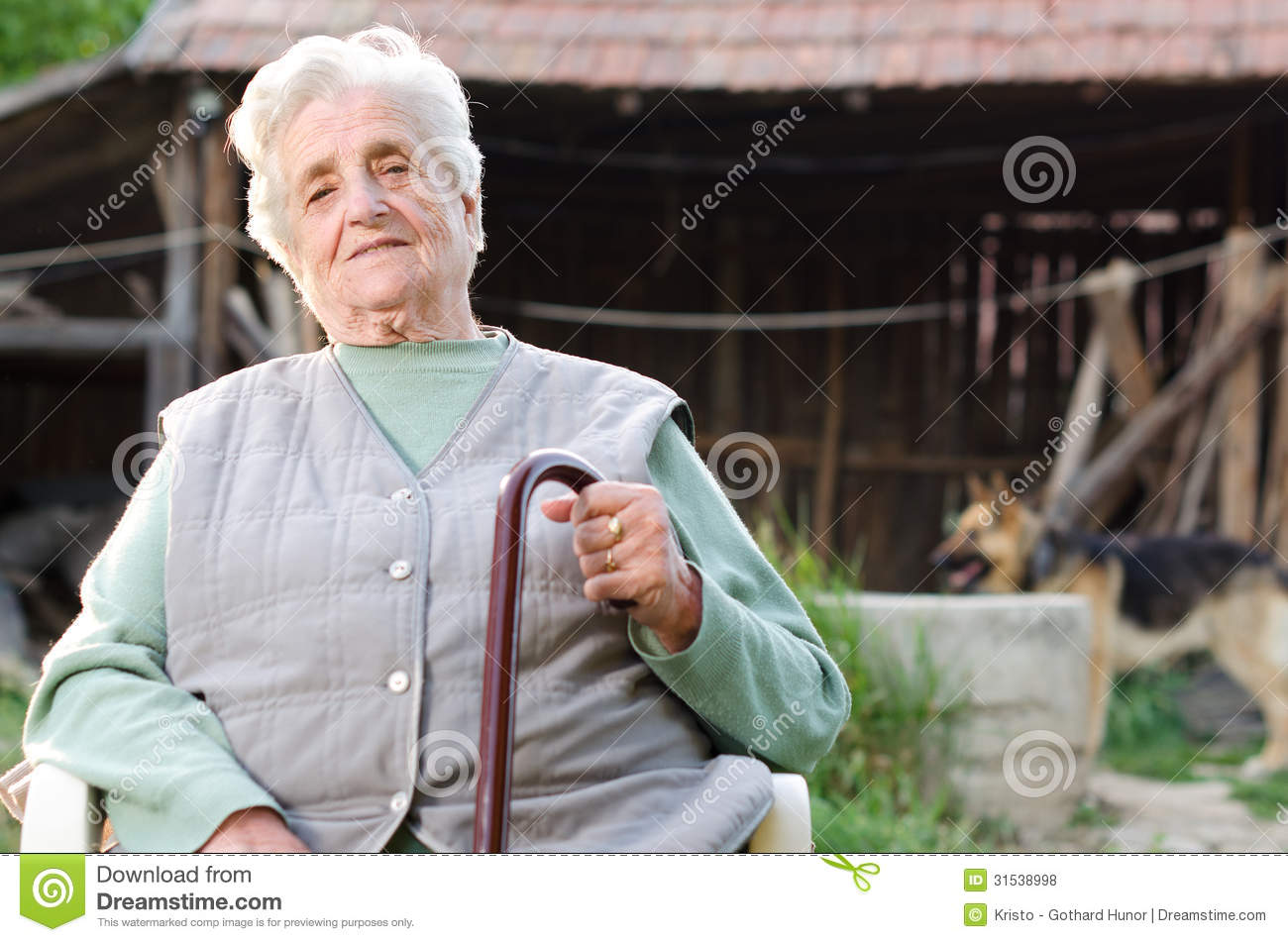 Portrait Of The Elderly Woman Royalty Free Stock Photos - Image ...