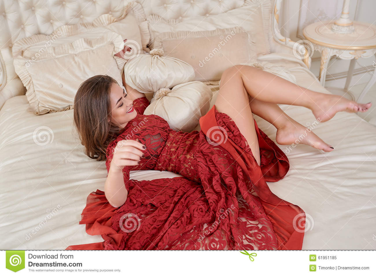Red dress campaign bed