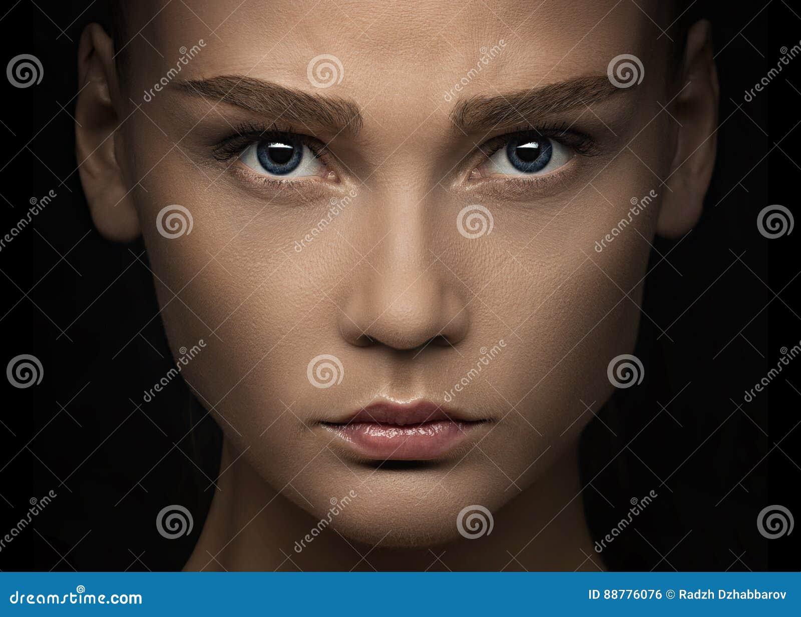 Portrait en gros plan d une femme