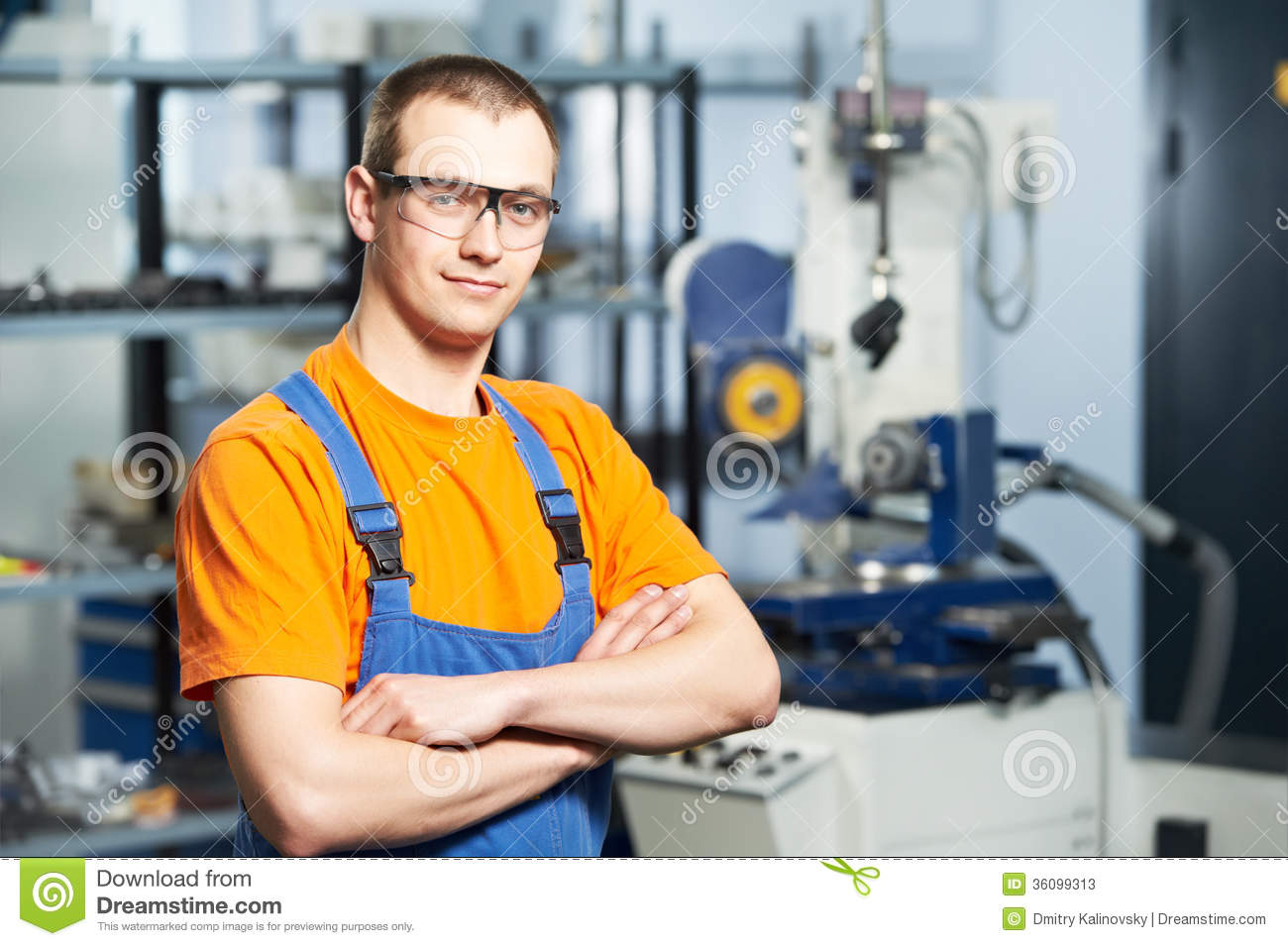 Portrait of experienced industrial worker
