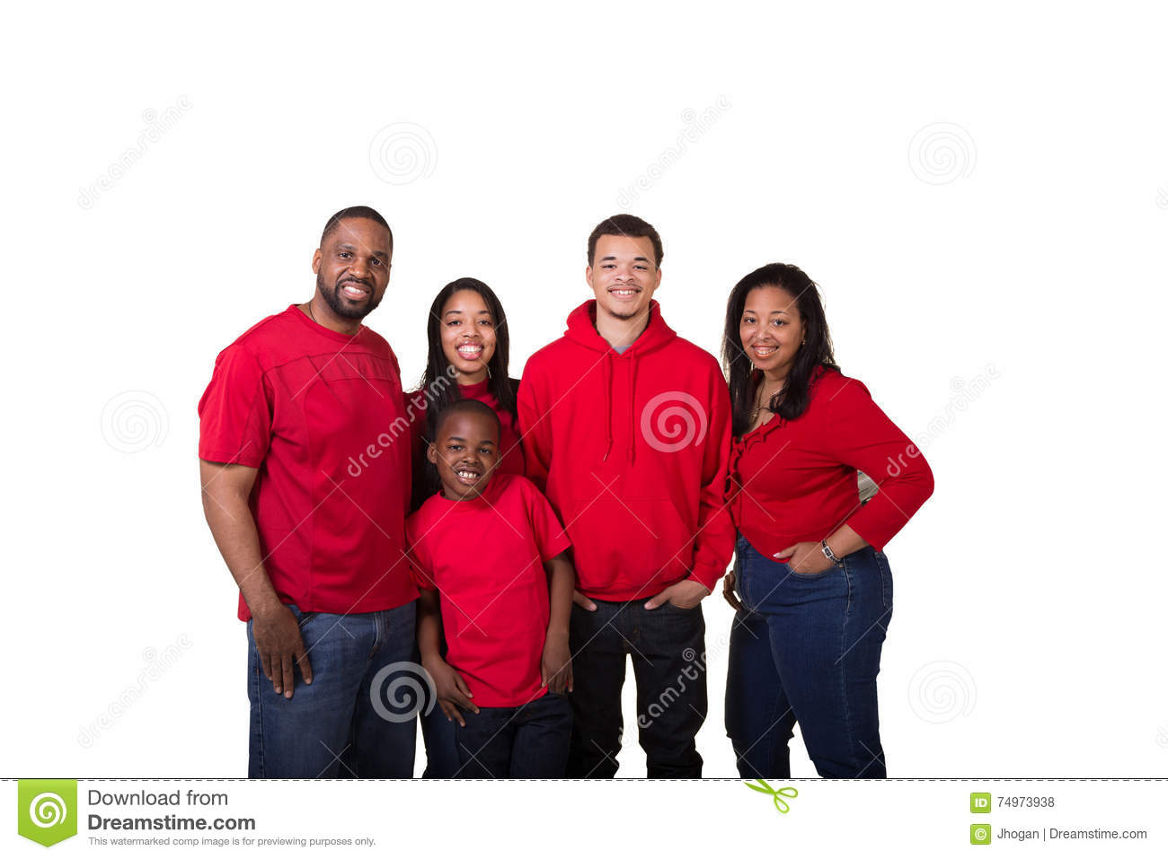 Portrait of a family of 5