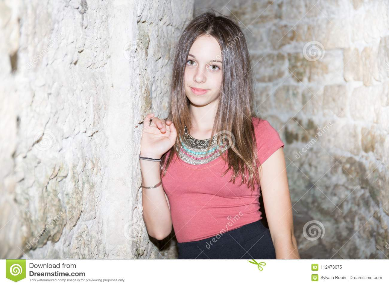 Very young girl outdoor very valuable