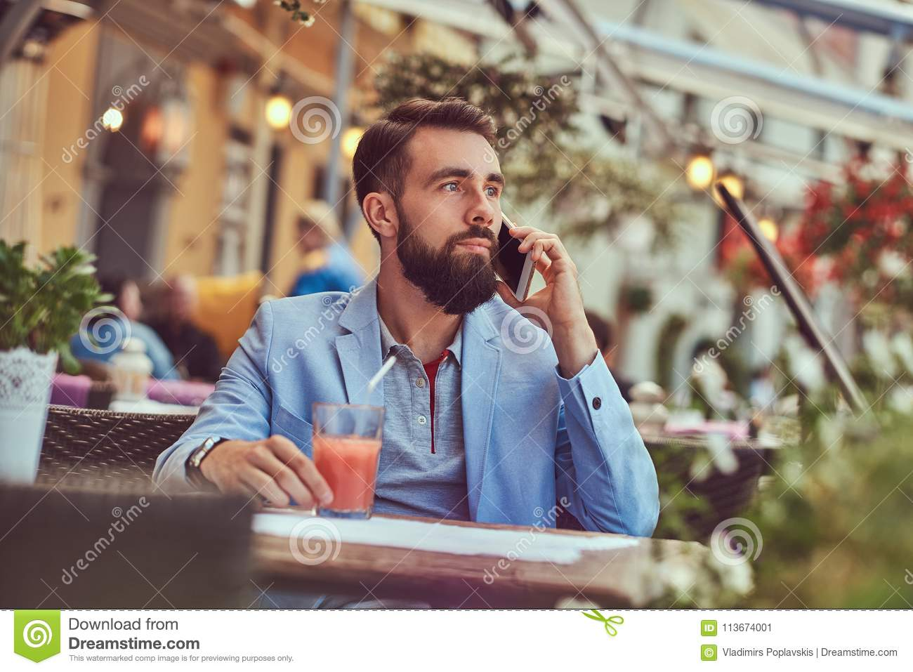 Portrait Of A Fashionable Bearded Businessman With A Stylish Haircut