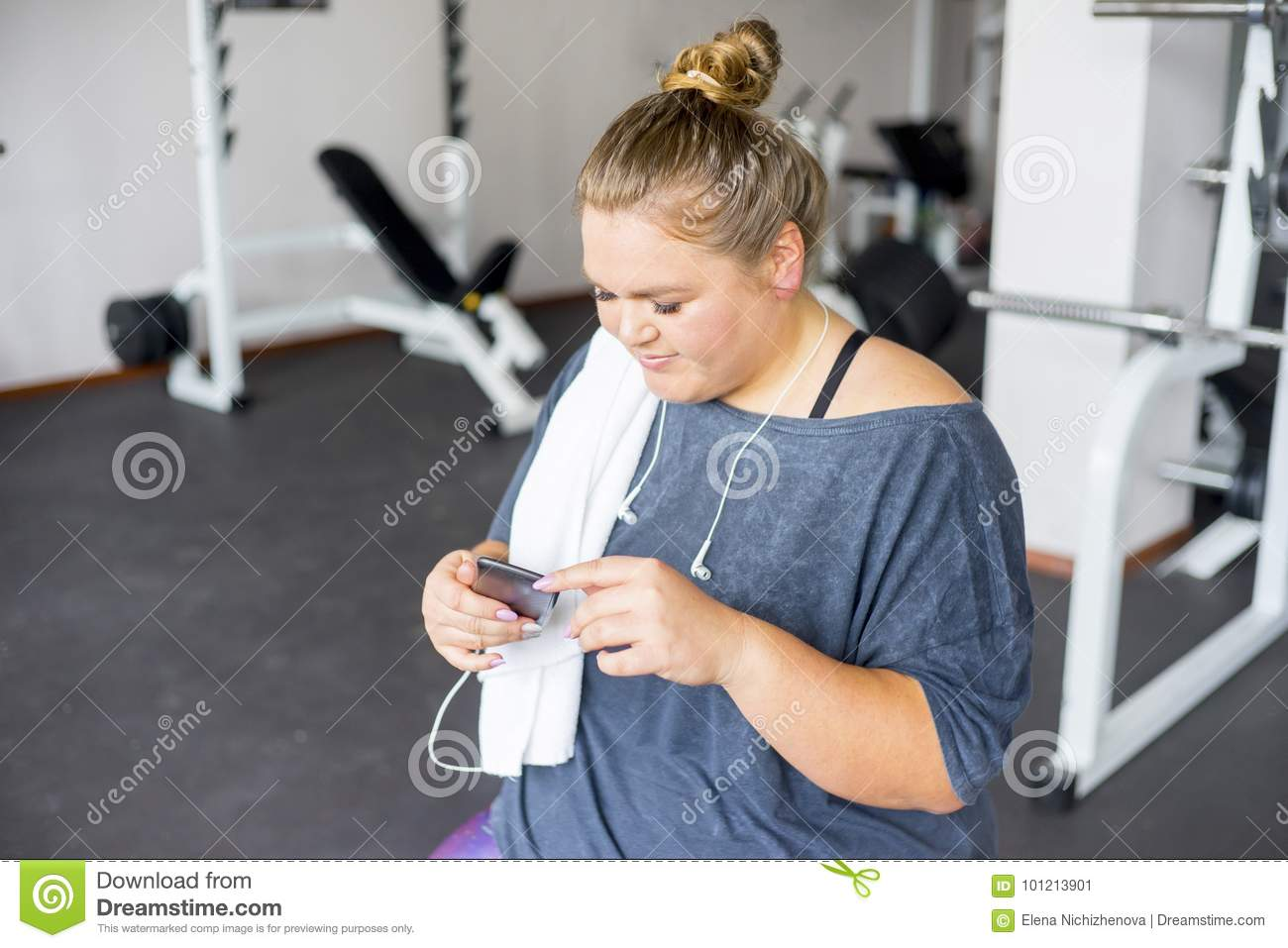 Fat girl in a gym