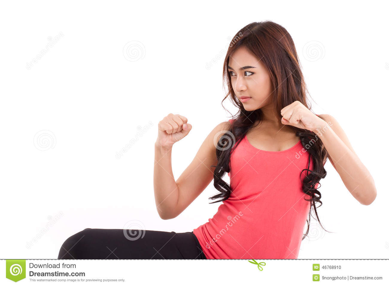 Female Fighting Stance female fighter , woman boxer posing fighting ...