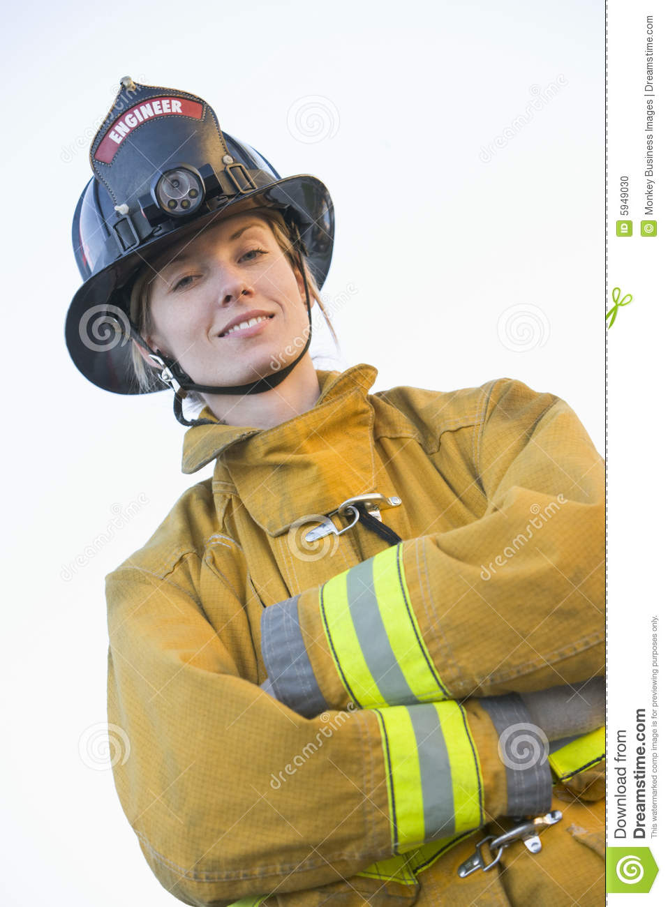 Portrait Of A Female Firefighter Stock Photo - Image: 5949030