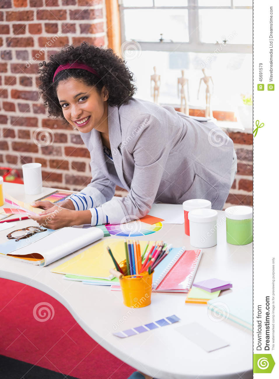 Portrait Of Female Interior Designer Stock Photo Image