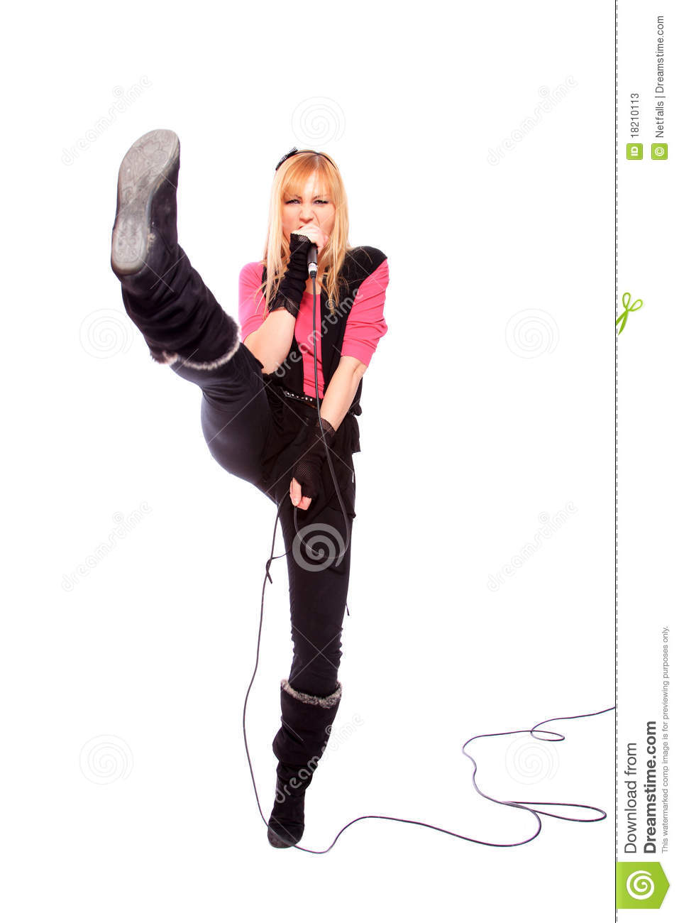 More similar stock images of portrait of female rock singer