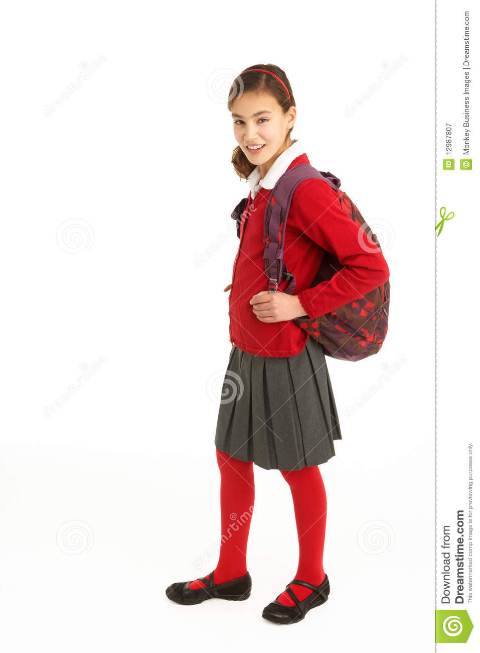 Portrait Of Female Student In Uniform Royalty Free Stock Photography ...