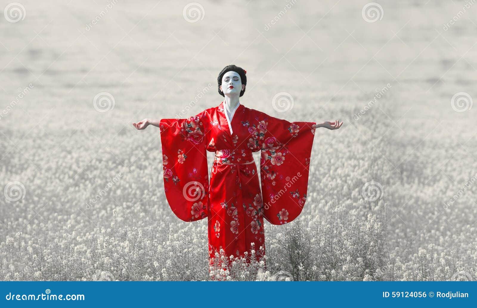 Portrait femelle de style asiatique, couleur d art
