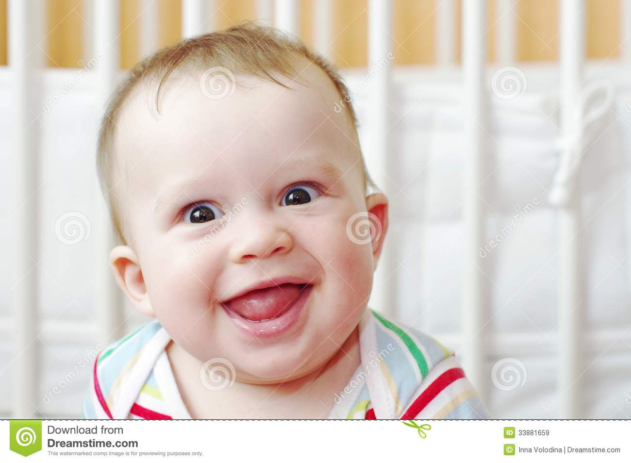 Portrait Of Funny Smiling Baby Royalty Free Stock Images ...