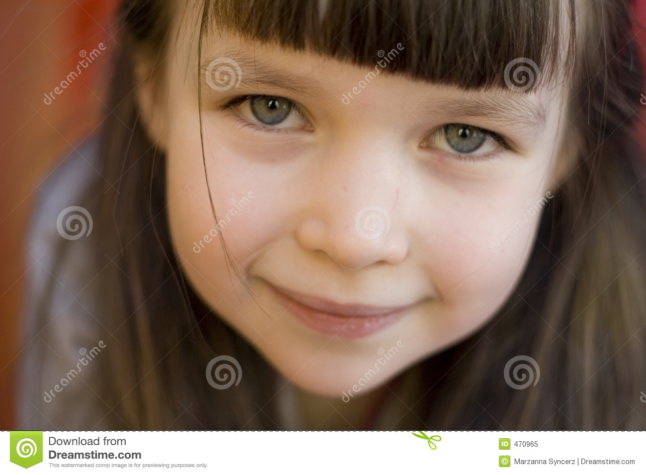 Download Portrait of a girl stock image. Image of happy, girl, children - 470965