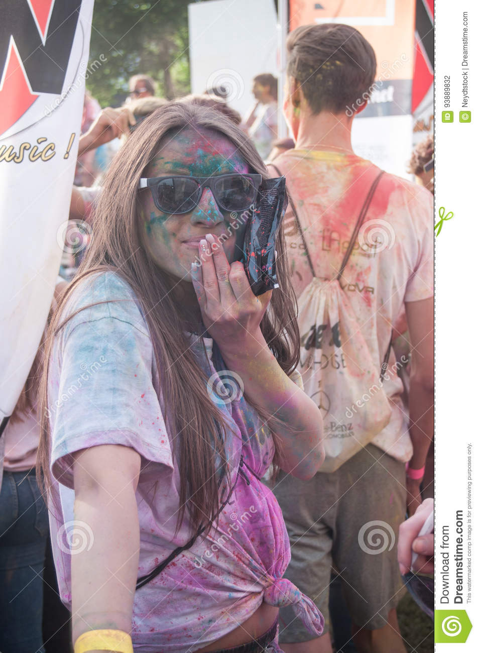 Portrait of girl at Colore Mulhouse 2017
