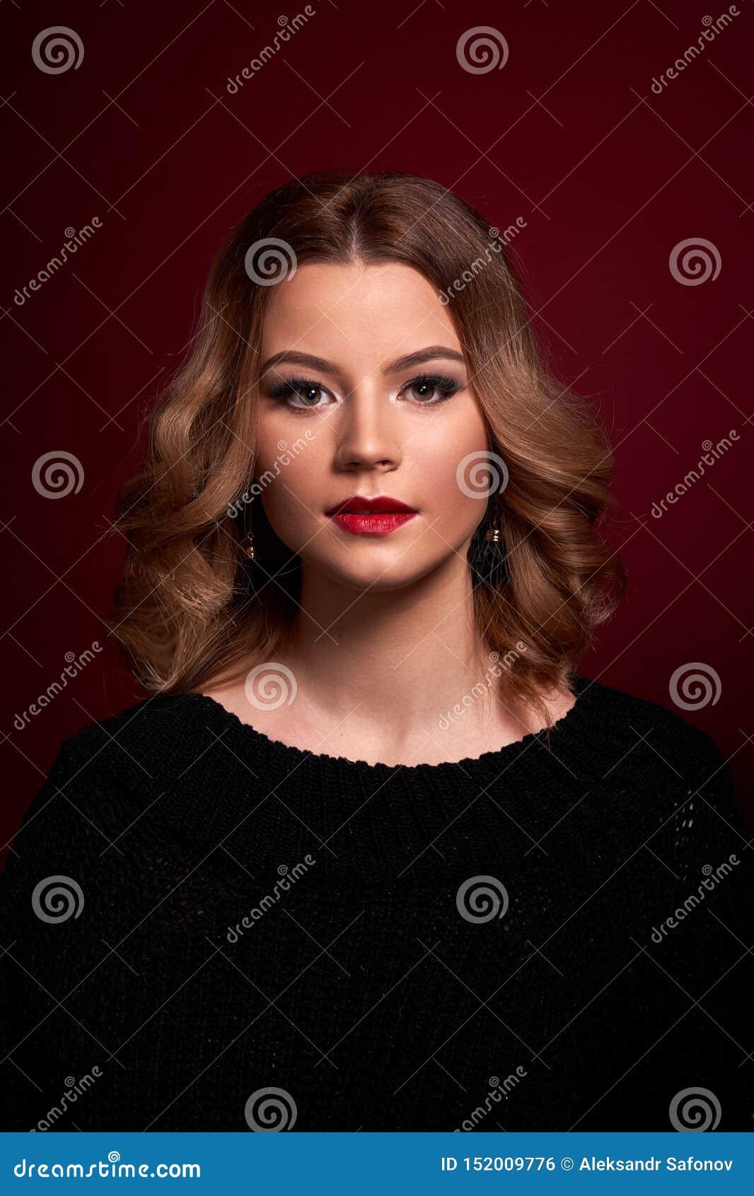 Portrait of a girl in full face