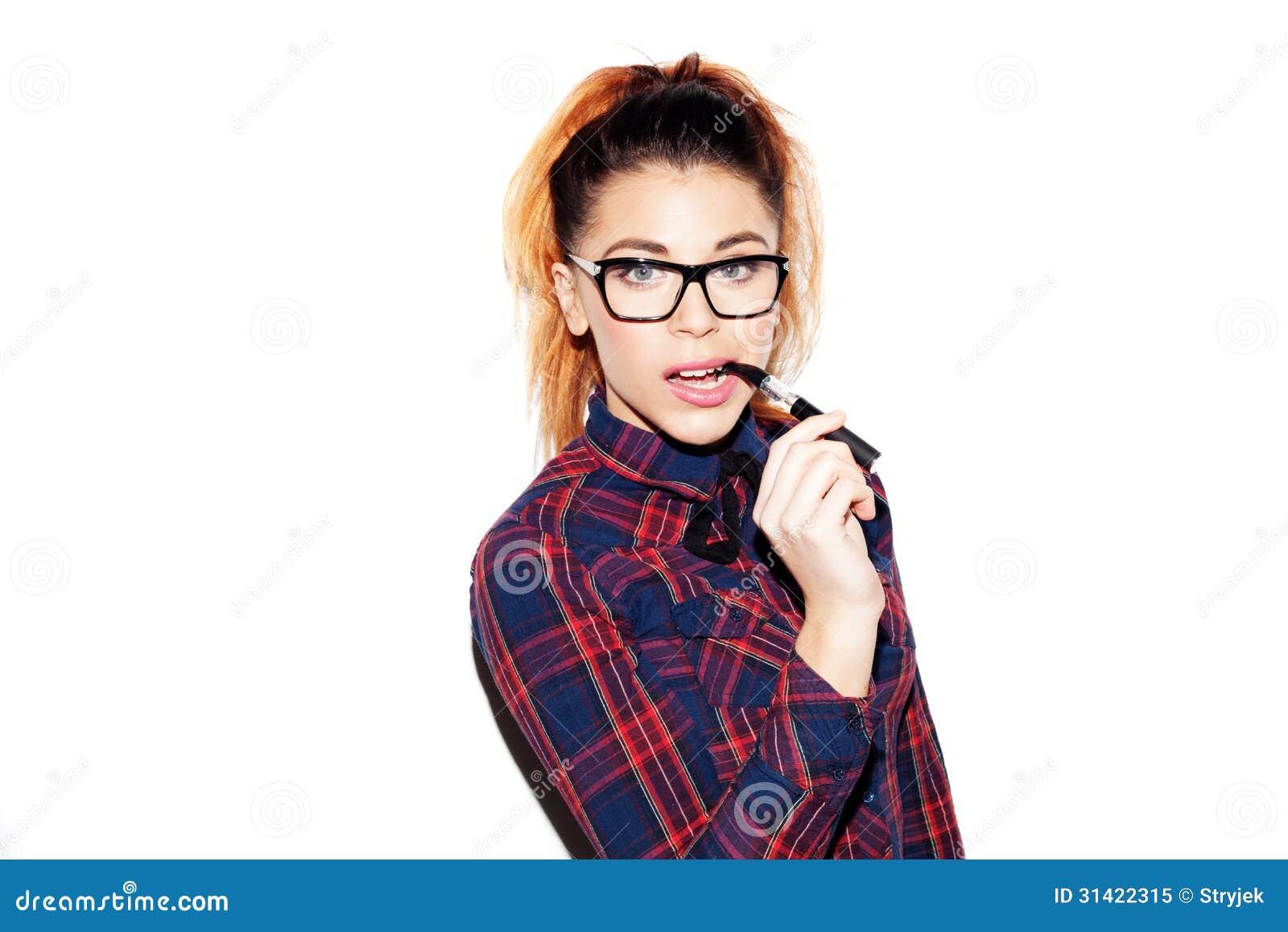 White nerdy girl
