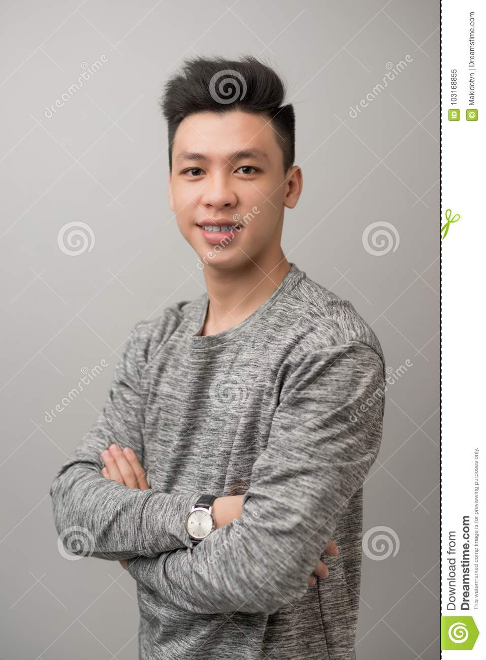 Good looking asian male