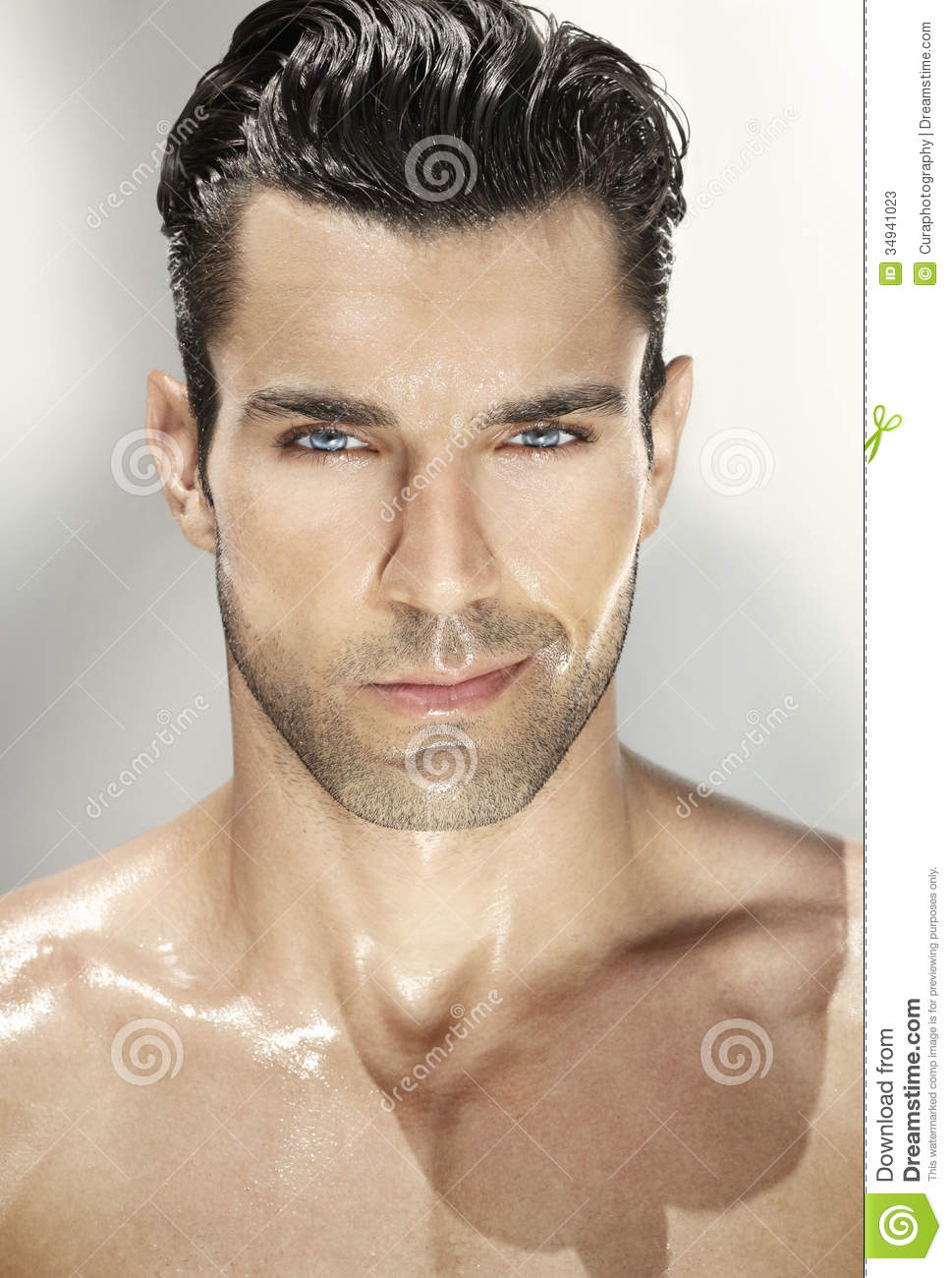 Portrait Of Good-looking Man Stock Image - Image of cute ...