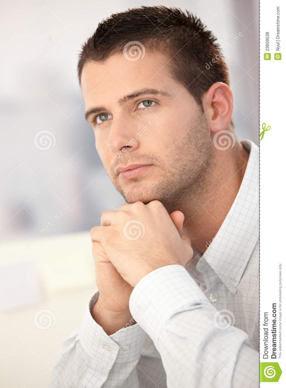Portrait Of Goodlooking Young Man Stock Photo - Image of ...  Good Looking Young Man