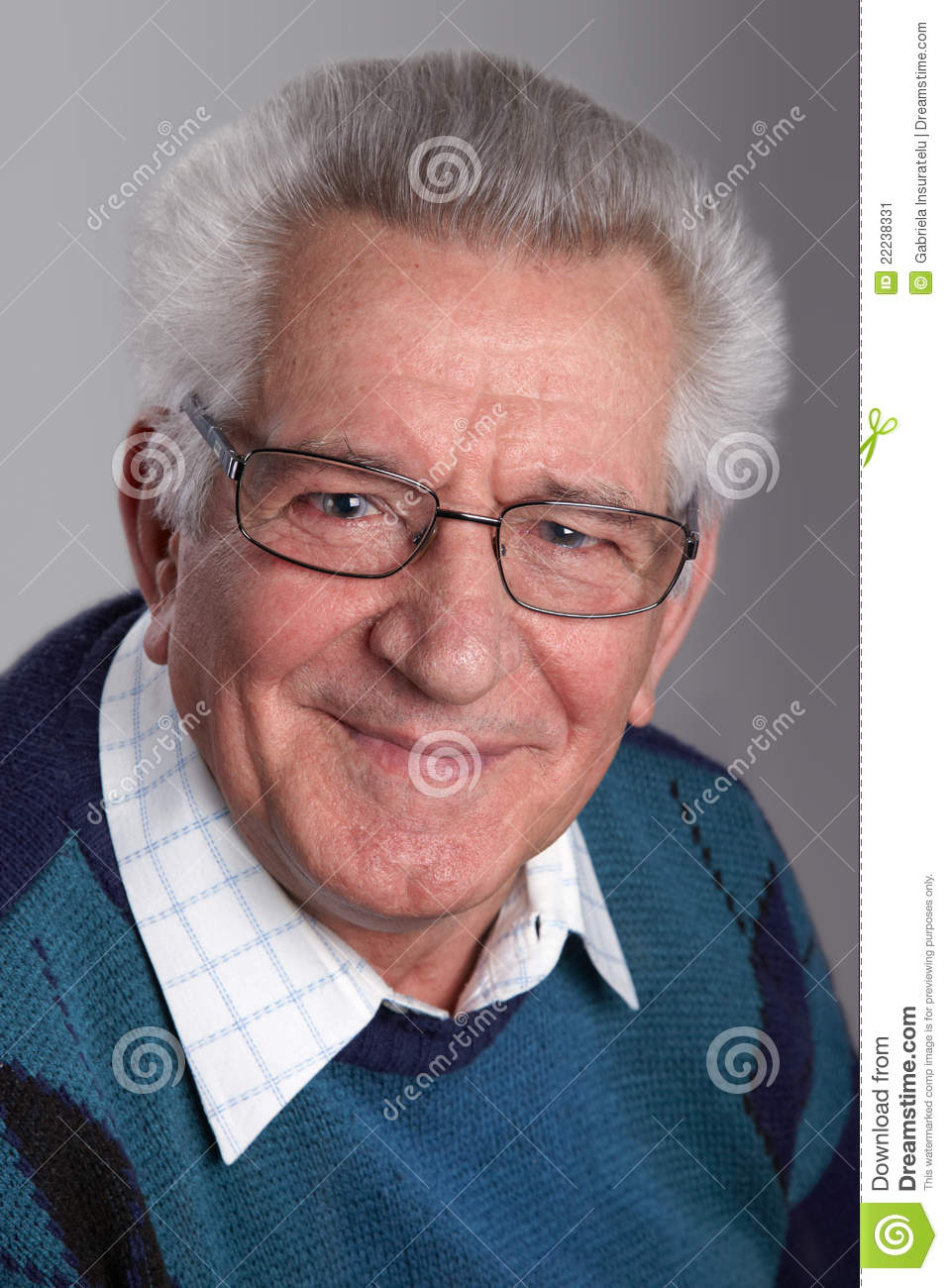 Portrait Of A Grandfather Stock Image - Image: 22238331