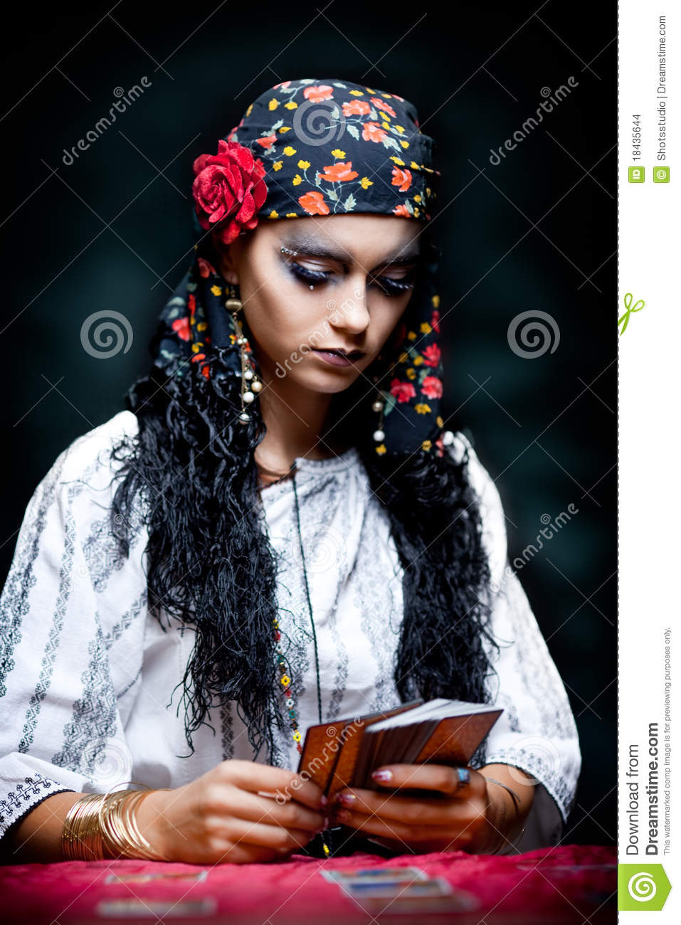 A Portrait Of A Gypsy Fortune Teller Stock Photo Image