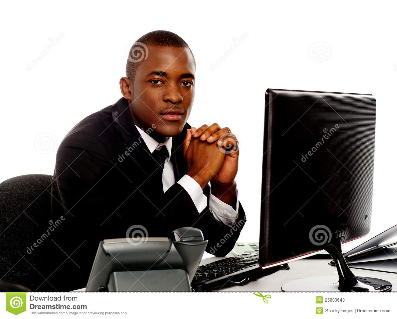 Portrait of a handsome african young executive